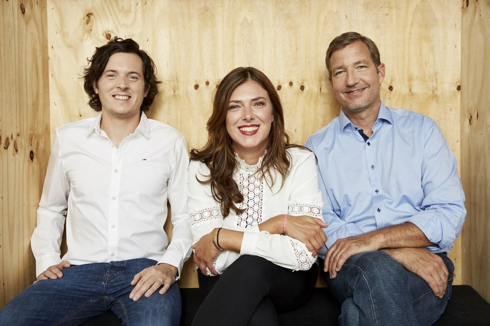 Jason Green (CTO), Claudia Helming (Founder & MD) and Niels Nüssler (MD), Fotograf: Boris Breuer