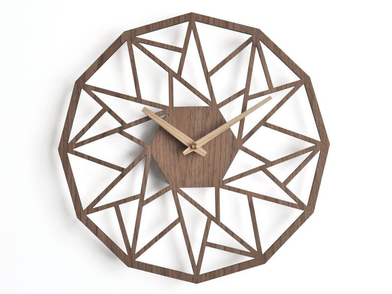 Modern Wooden Geometric Wall Clock by nius design on DaWanda.com_22.90£.JPEG