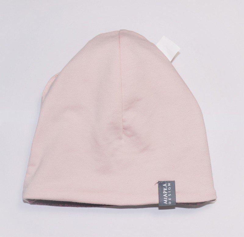 Czapka z pomponem Różowy Melanż 3.jpg