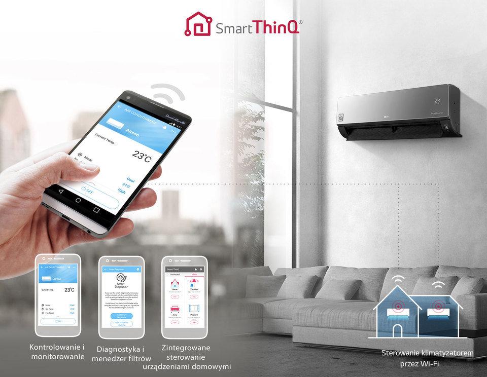Obsługa klimatyzacji za pomocą smartfona
