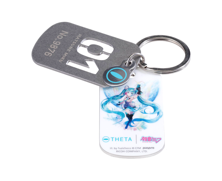 RICOH THETA SC Type HATSUNE MIKU_dog tag key holder.png