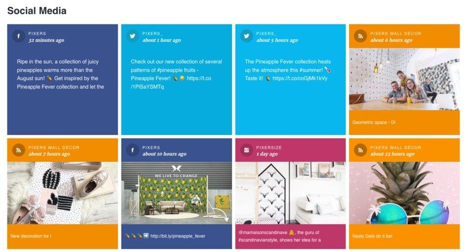 Sekcja Social Media na Brand Journalu Pixers