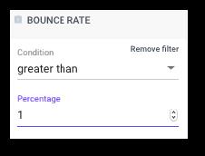 Ustawienie filtra Bounce rate, dzięki któremu zobaczysz kontakty nieotrzymujące Twoich wiadomości