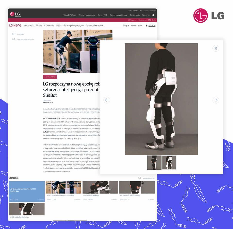 Informacja prasowa LG z galerią zdjęć