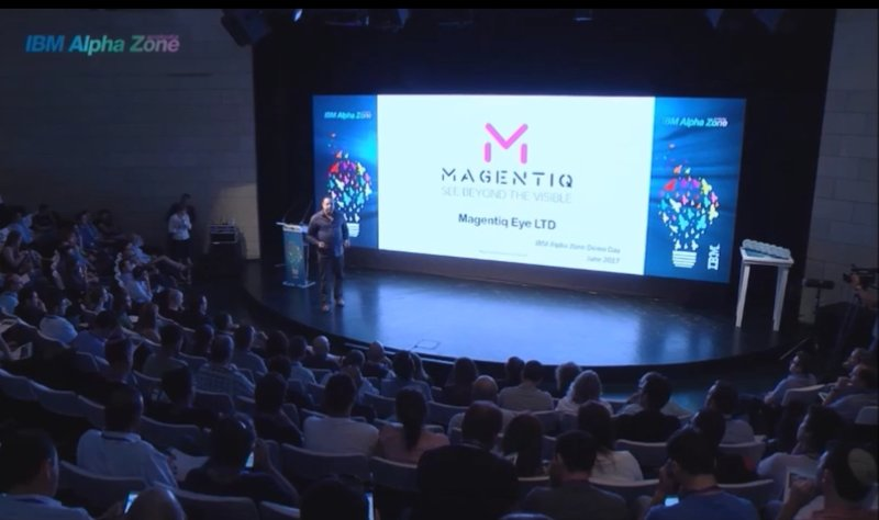Magentiq Eye CEO is pitching at IBM.jpg