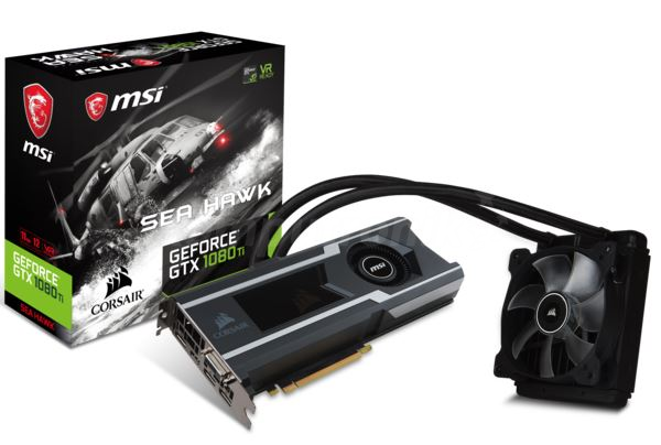 MSI GeForce GTX 1080 Ti SEA HAWK X 11GB GDDR5X VR Ready