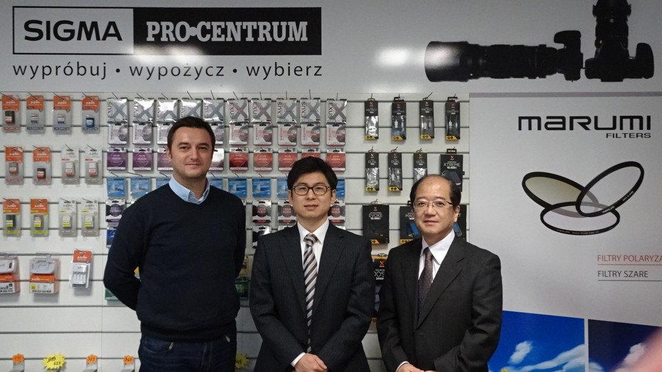 Na zdjęciu od lewej Michał Mikulski (Category Manager K-Consult), Mr. Shohey Arai (Marumi International Sales Dept. & Marketing Communication), Mr. Hiroki Miura (Marumi General Manager)