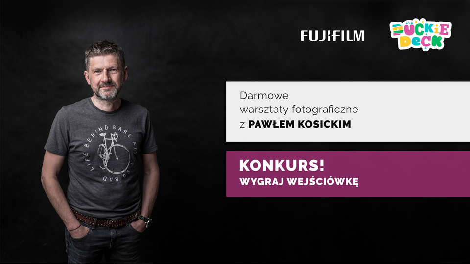 Mamo, Tato,<br>prowadzisz bloga i relacjonujesz Wasze rodzinne życie na Facebooku lub Instagramie, a do tego jesteś z Krakowa lub okolic!? Mamy coś dla Ciebie!<br><strong>Weź udział w konkursie</strong> i zostań <strong>jednym z 10 uczestników wyjątkowego warsztatu fotograficznego</strong> z ekspertem Fujifilm Poland – Pawłem Kosickim.&nbsp;