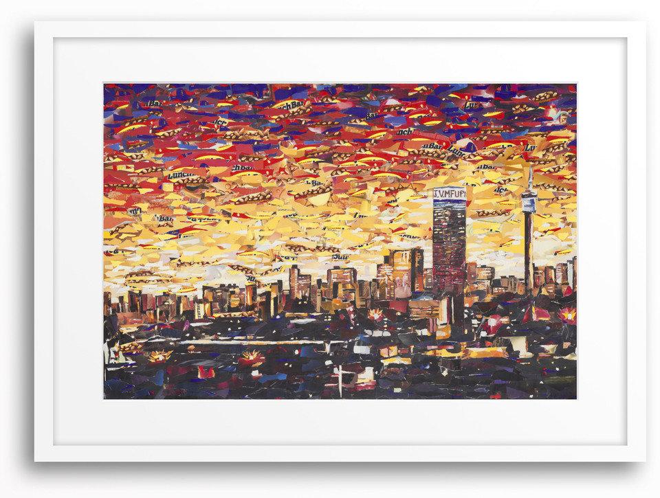 Johannesburg's Skyline by John Vusi Mfupi