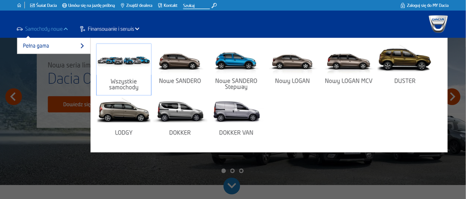 See Polish Dacia website