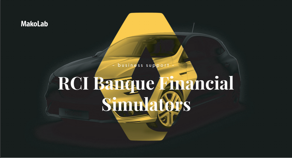 RCI Banque Financial Simulators - case study