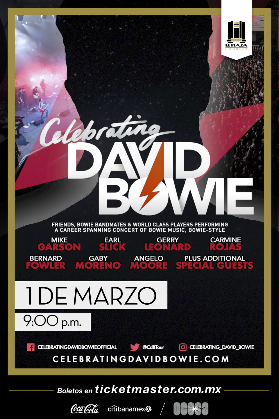Celebrating David Bowie, arte oficial.