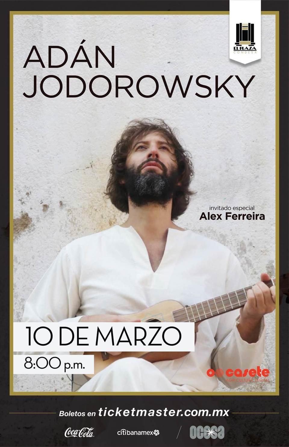 Póster oficial, Adán Jodorowsky en El Plaza Condesa.