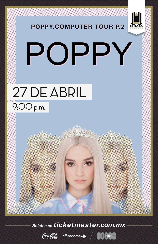 Poppy en El Plaza Condesa, arte oficial
