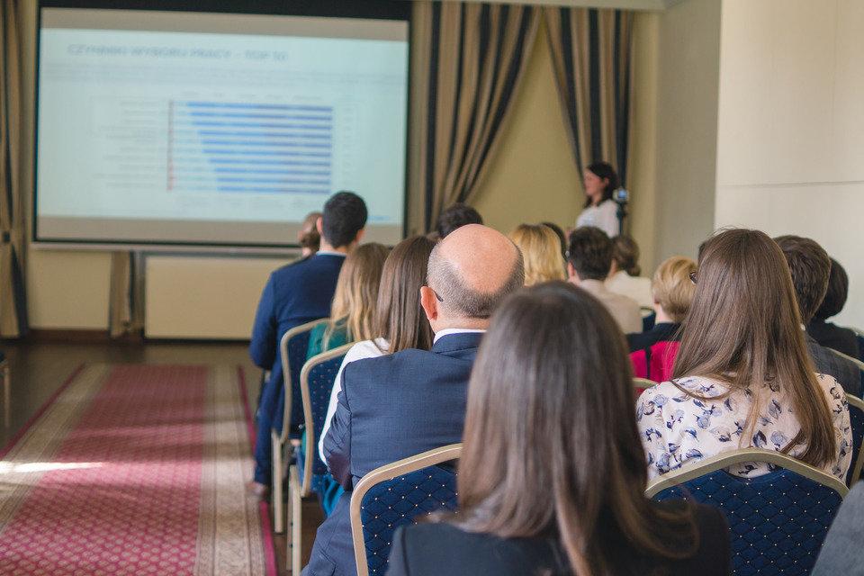 Prezentacja wyników raportu podczas Gali Wręczenia Nagród w Pałacu Lubomirskich w Warszawie
