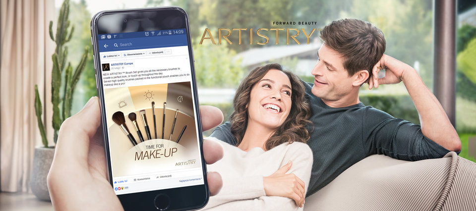 nowa komunikacja marki Artistry w SM