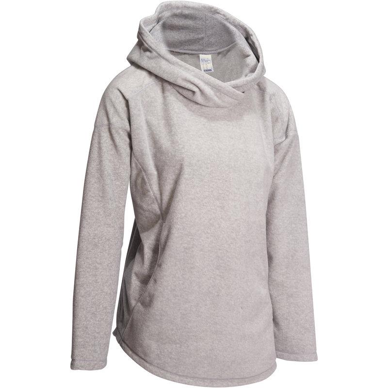 Decathlon, bluza polarowa do jogi Domyos, jasnoszara, cena 59,99 PLN.jpg