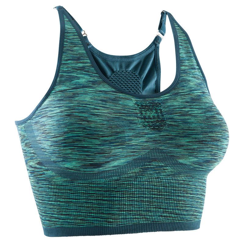 Decathlon, Stanik do jogi YOGA+, Domyos, niebiesko - zielony, cena 59,99 PLN.jpg
