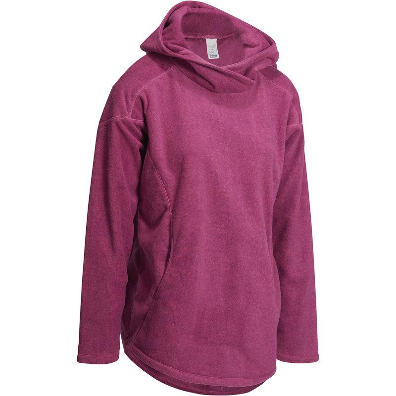 Decathlon, bluza polarowa do jogi Domyos, śliwkowa, cena 59,99 PLN.jpg