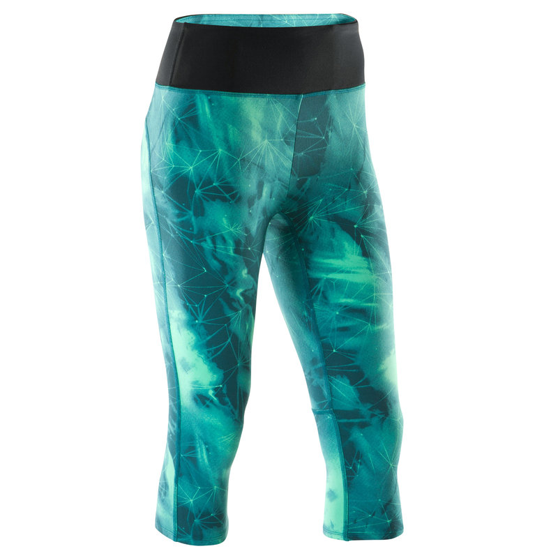 Decathlon, Rybaczki do jogi YOGA+ 900 Domyos, niebiesko - zielone, cena 79,99 PLN.jpg