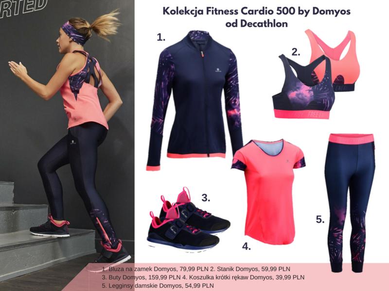 Kolekcja Fitness Cardio 500 by Domyos od Decathlon_ zestaw różowy.png