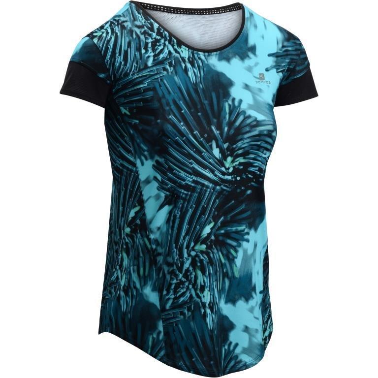 Decathlon, koszulka fitness kardio z krótkim rękawem 500 damska Domyos, 39,99 PLN.jpg