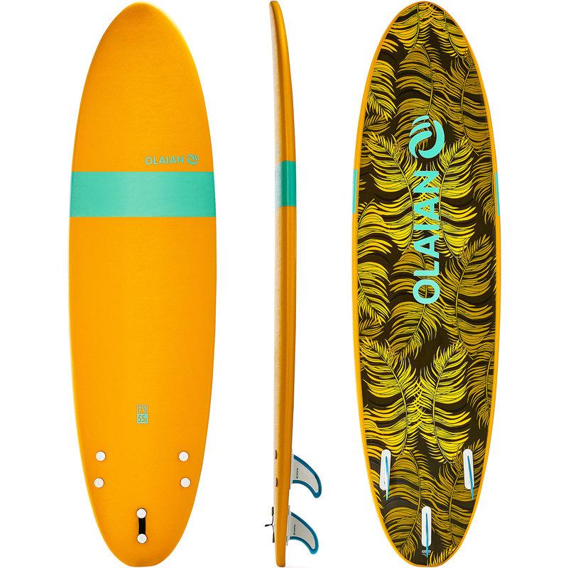 Decathlon, deska surfingowa z pianki z leashem i statecznikami Olaian, 499,99 PLN.jpg