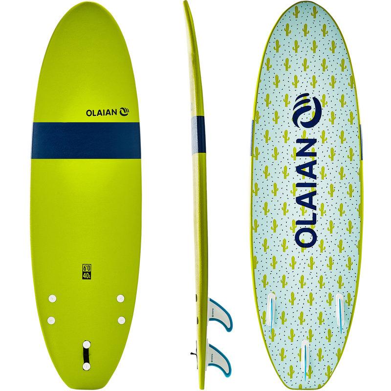 Decathlon, deska surfingowa z pianki z leashem i statecznikami Olaian, 419,99 PLN.jpg