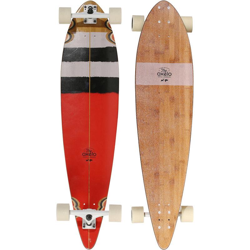 Decathlon, longboard pintail surf czerwony, Oxelo, 369,99 PLN.jpg