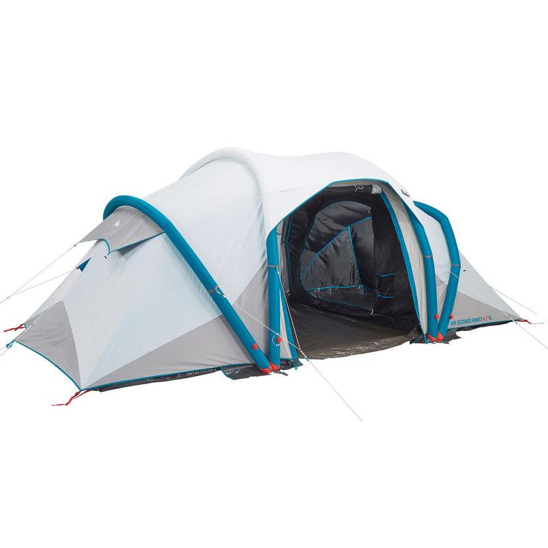 Decathlon, namiot kempingowy rodzinny AIR seconds Family 4.2 XL Fresh & Black 4 os. Quechua, 1 799,00 PLN.jpg