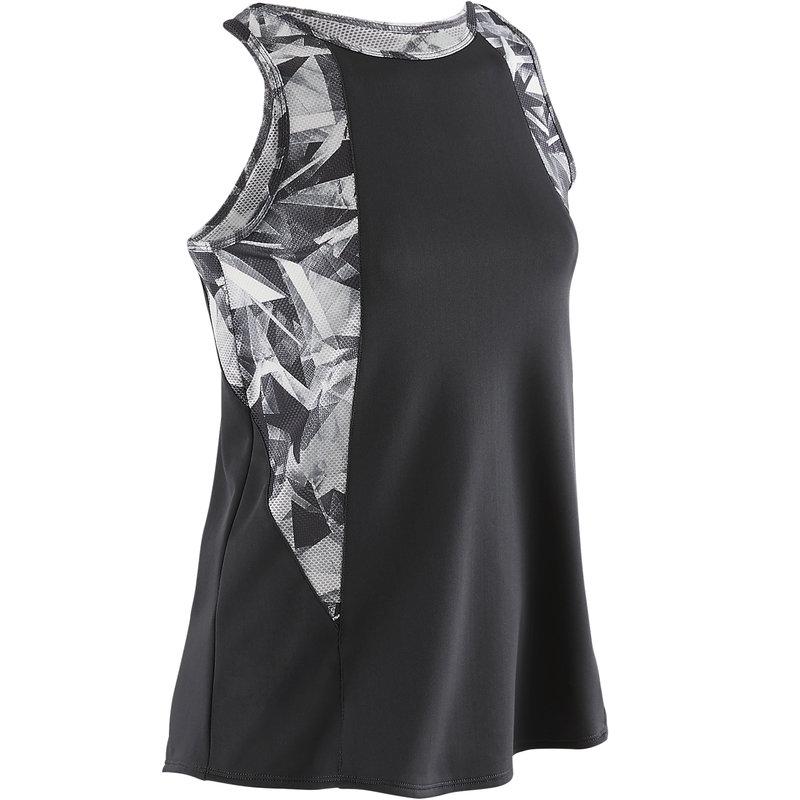 Decathlon, koszulka bez rękawów gym & pilates S900 dla dzieci Domyos, 34,99 PLN (2).jpg