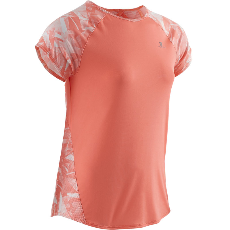 Decathlon, koszulka krótki rękaw gym & pilates S900 dla dzieci Domyos, 44,99 PLN (2).jpg