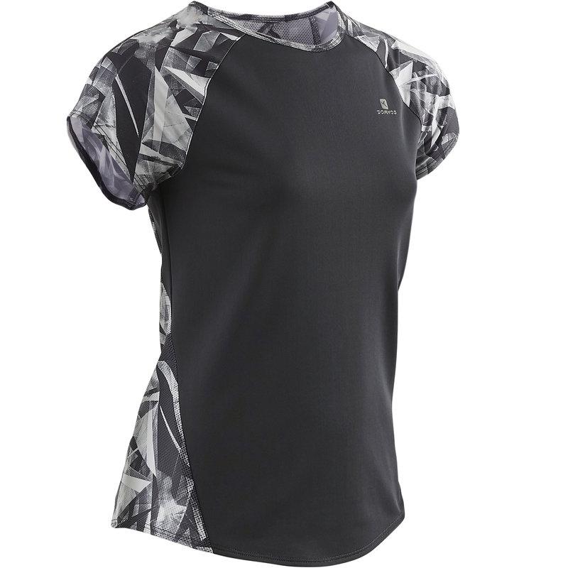 Decathlon, koszulka krótki rękaw gym & pilates S900 dla dzieci Domyos, 44,99 PLN (3).jpg