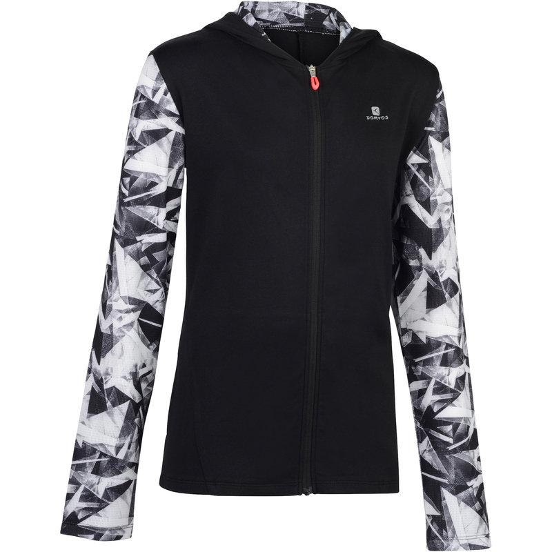 Decathlon, bluza z kapturem do gimnastyki S900 dla dzieci Domyos, 64,99 PLN.jpg