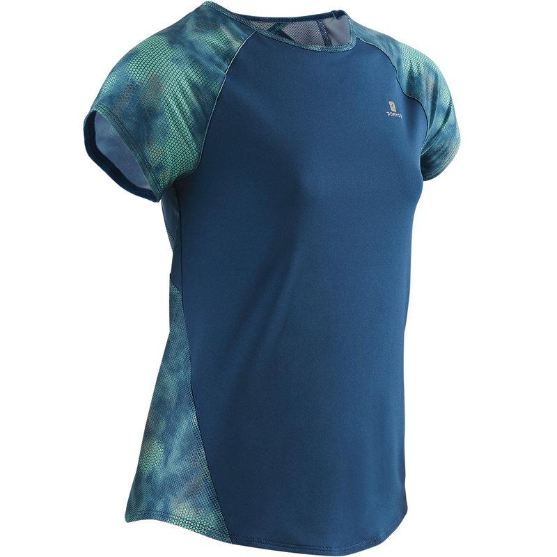 Decathlon, koszulka krótki rękaw gym & pilates S900 dla dzieci Domyos, 44,99 PLN.jpg