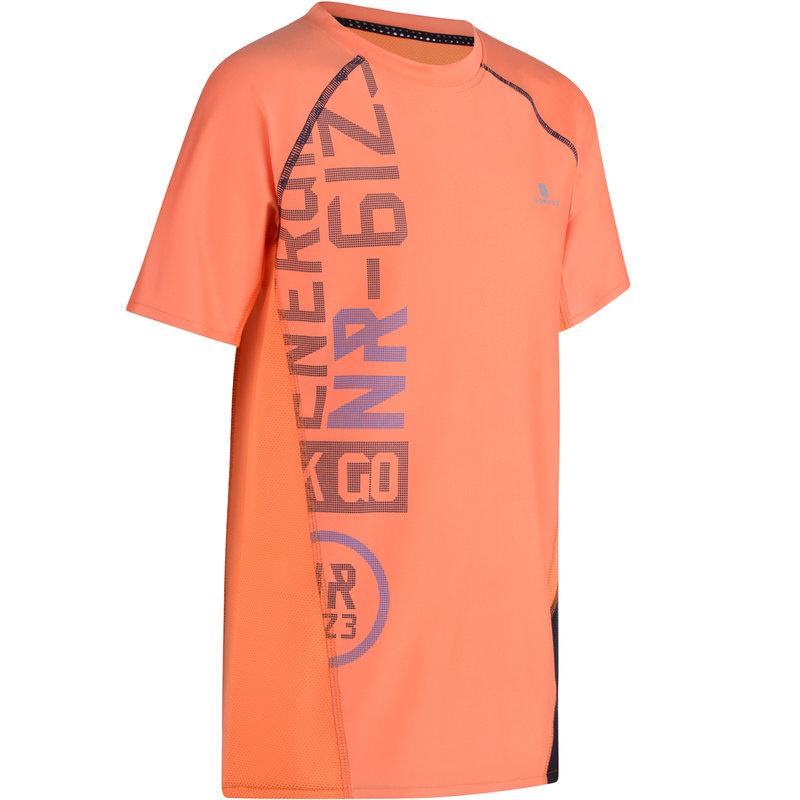 Decathlon, koszulka krótki rękaw do gimnastyki S900 slim dla dzieci Domyos, 54,99 PLN (2).jpg