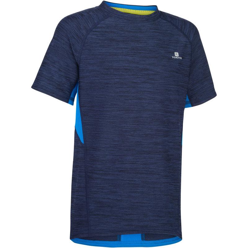 Decathlon, koszulka krótki rękaw do gimnastyki S900 dla dzieci Domyos, 39,99 PLN (2).jpg