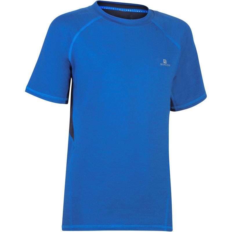 Decathlon, koszulka krótki rękaw do gimnastyki S900 dla dzieci Domyos, 44,99 PLN.jpg
