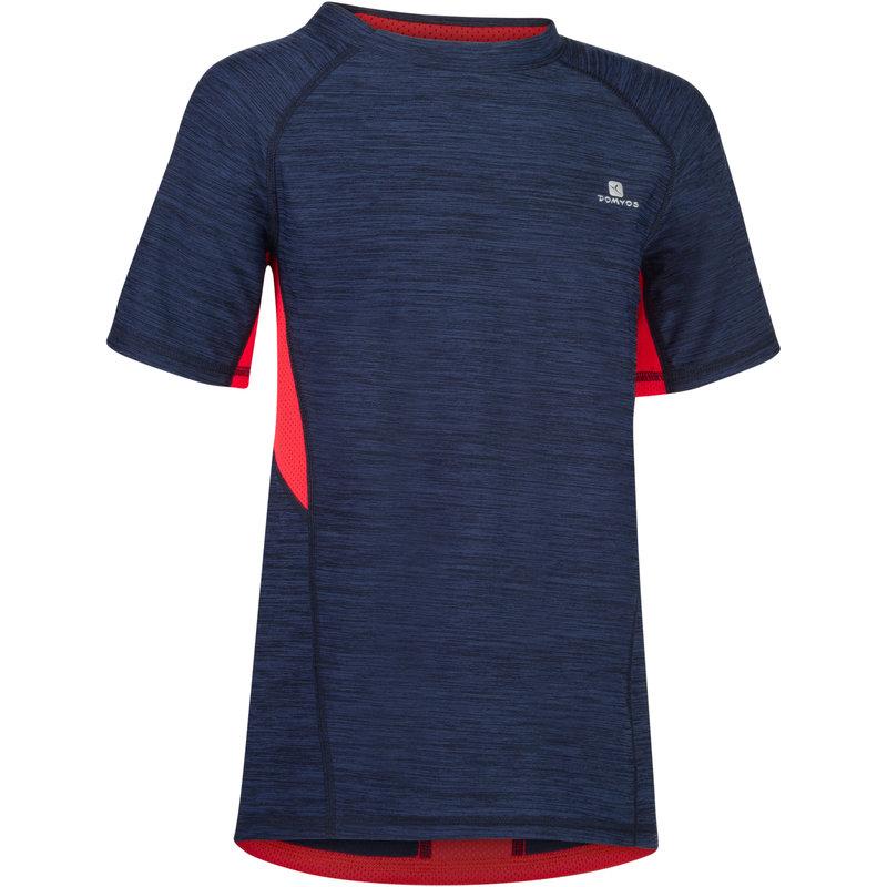 Decathlon, koszulka krótki rękaw do gimnastyki S900 dla dzieci Domyos, 39,99 PLN.jpg