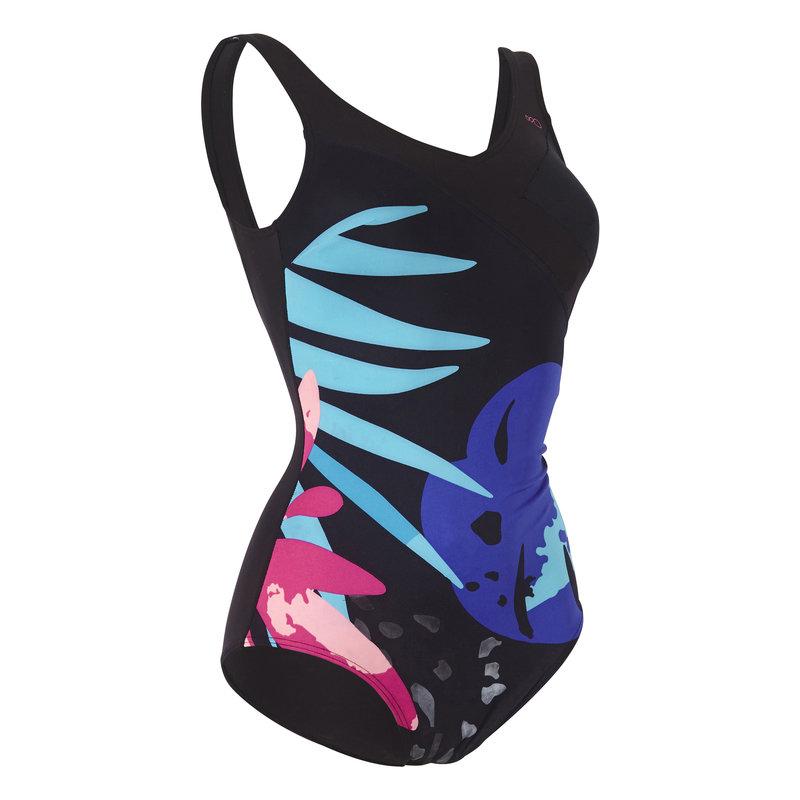 Decathlon, strój jednoczęściowy do aquafitness tropical damski Nabaiji, 129,99 PLN.jpg