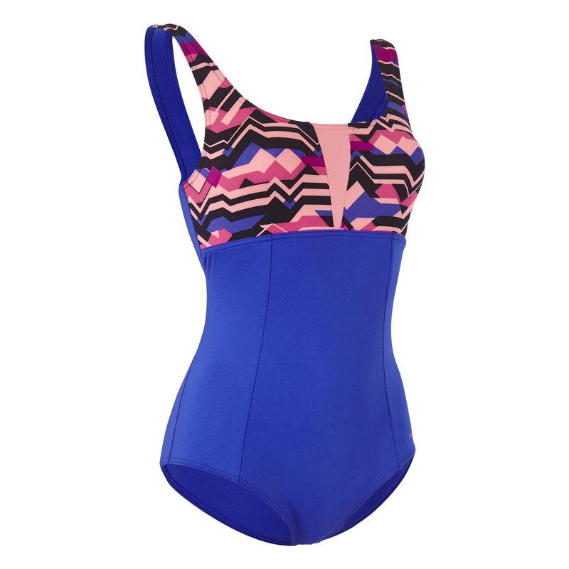 Decathlon, strój jednoczęściowy do aquafitness damski Nabaiji, 59,99 PLN.jpg