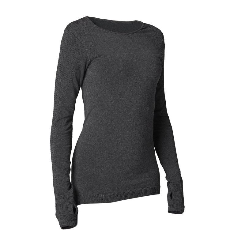 Decathlon, koszulka długi rękaw Yoga damska Domyos, 109,99 PLN.jpg