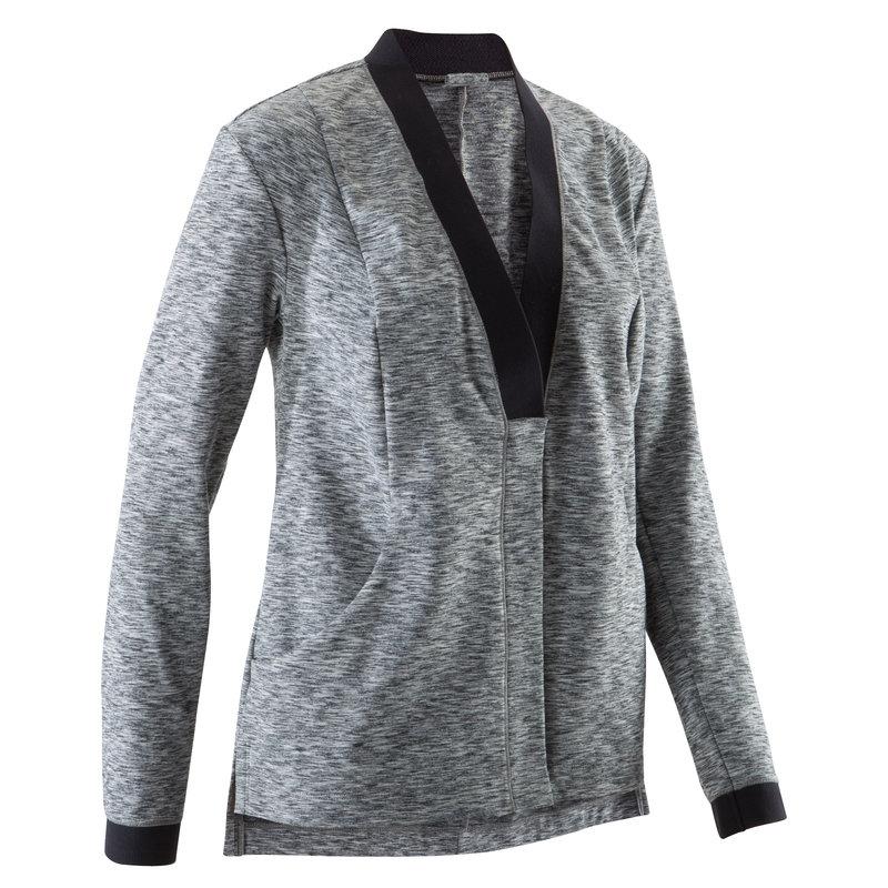 Decathlon, bluza na zamek do jogi Yoga+ damska Domyos, 84,99 PLN.jpg