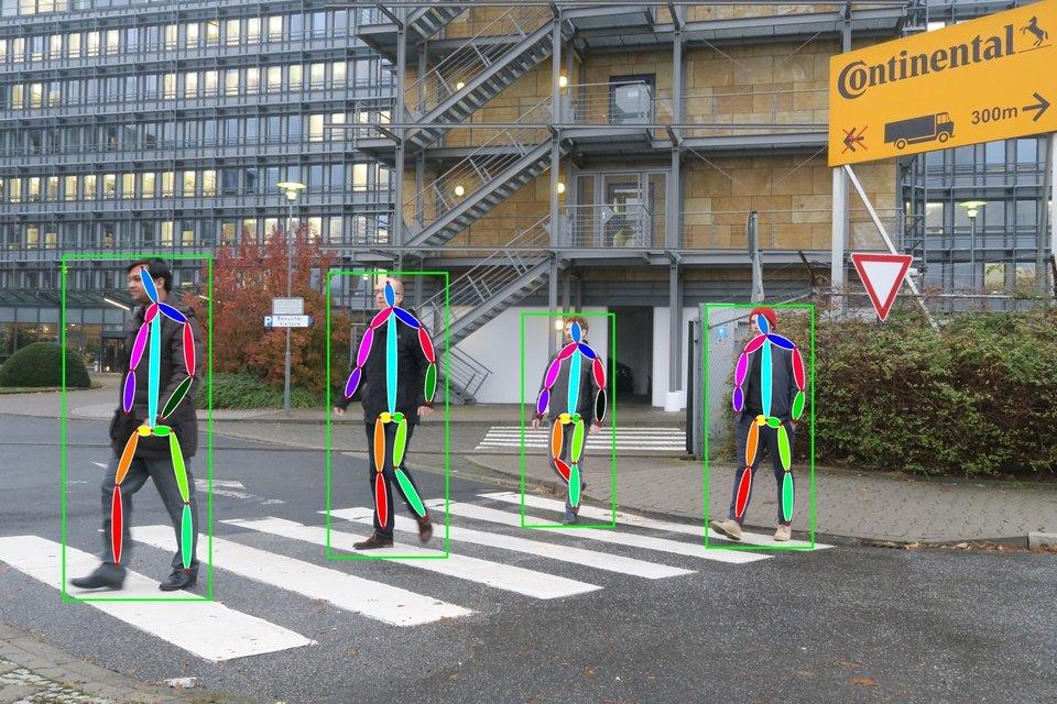 Na stoisku można było testować wybrane funkcje nowej kamery, szczególnie rozpoznawanie pieszych.