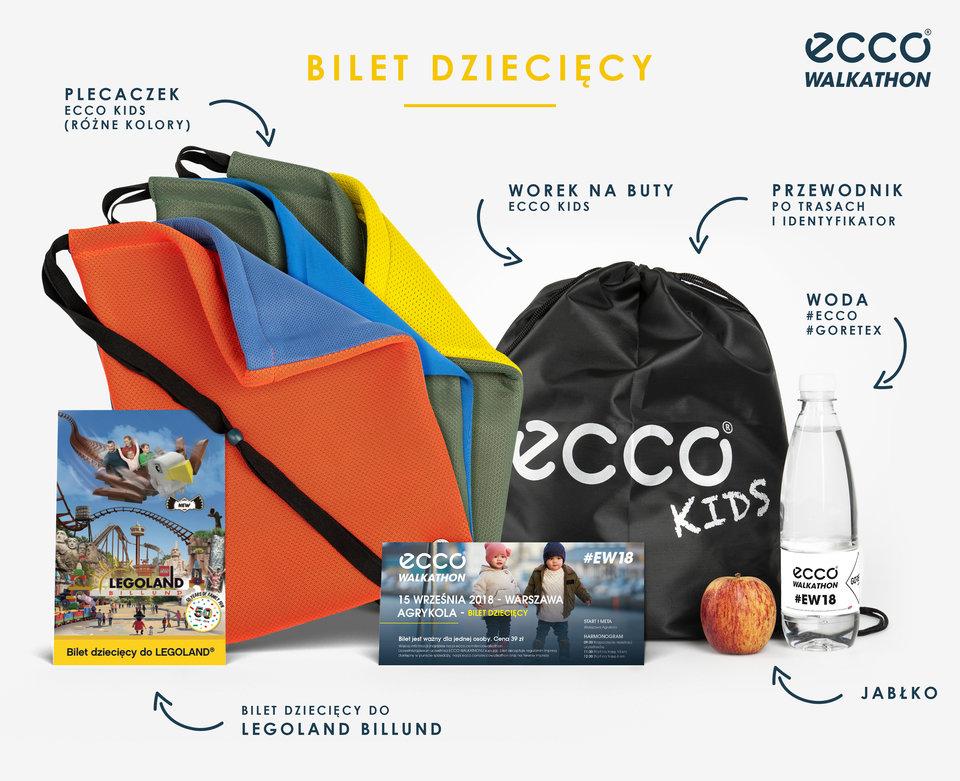 Pakiet startowy ECCO Walkathon 2018 - bilet dzięciecy