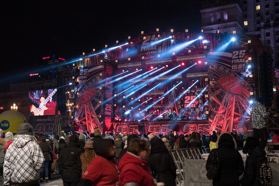 Grand Finale concert stage in Warsaw. Photo credit: R. Grablewski