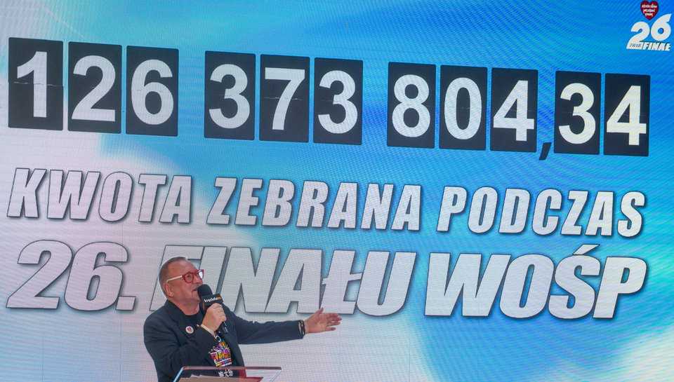 The chairman of the board of the Foundation announced the result on March the 8th. <br>photo credit: Ł. Widziszowski