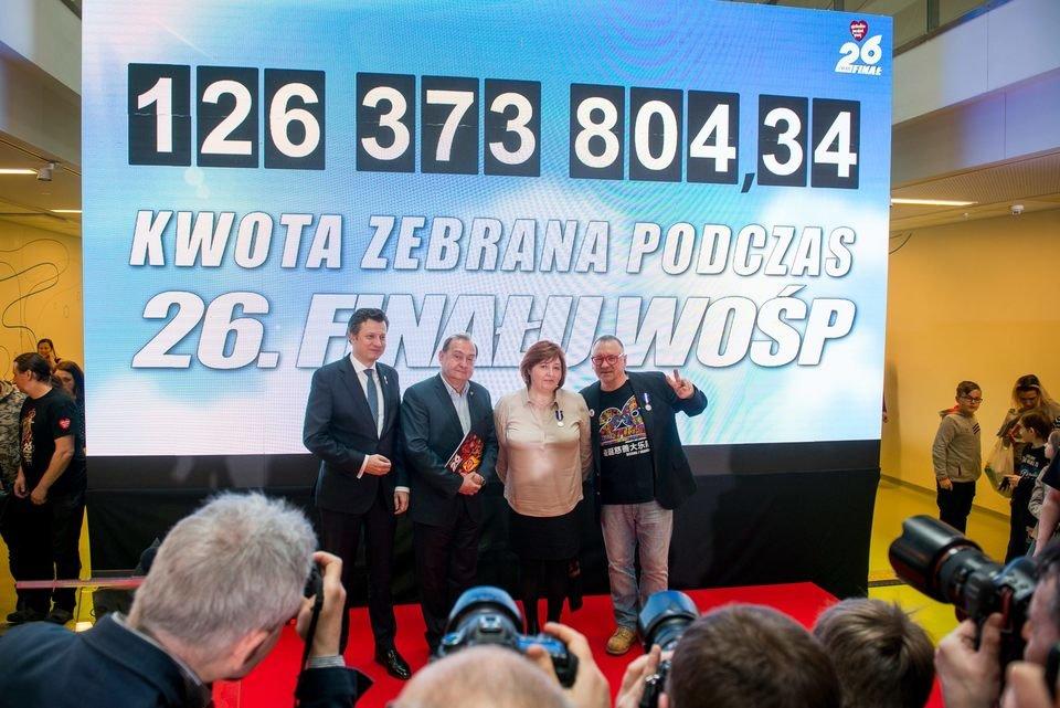 Podsumowanie zbiórki 26. Finału WOŚP, fot. Łukasz Widziszowski