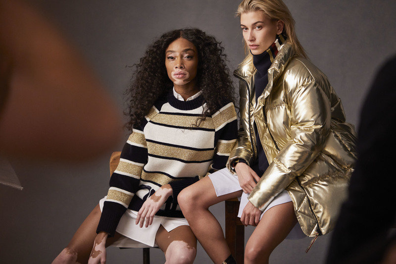 Winnie Harlow & Hayley Baldwin Tommy Icons BTS Fall 18 High Res.jpg