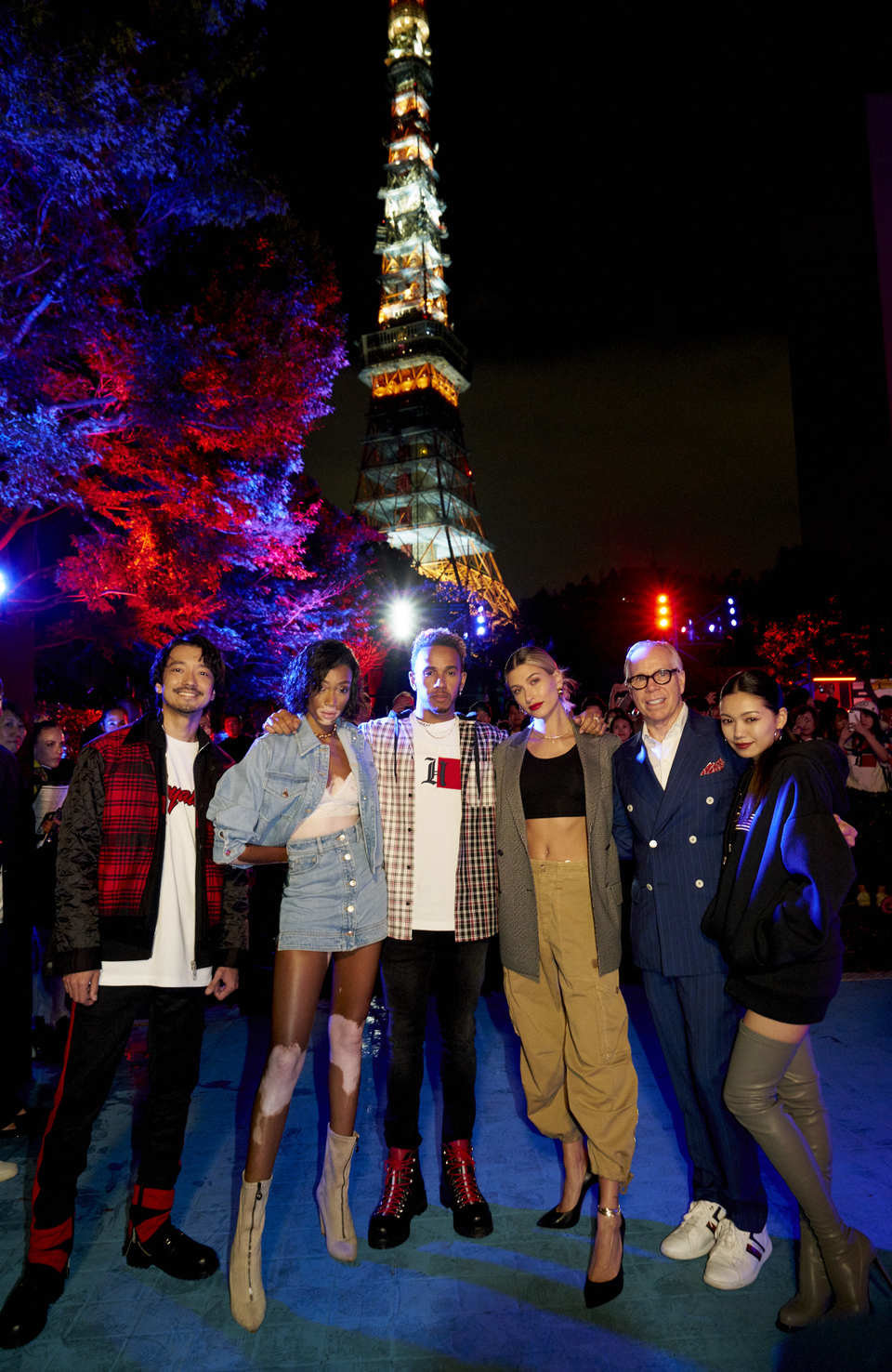 Nobu, Winnie Harlow, Lewis Hamilton, Hailey Baldwin, Tommy Hilfiger and Fumi.jpg